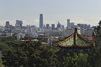 City scape of Beijing with Jingshan Pagoda in foreground, China - Alex Mares-Manton