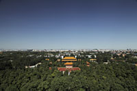 Aerial view of Forbidden City and city scape, Beijing, China - Alex Mares-Manton