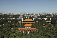 Aerial view of The Forbidden City and city scape, Beijing, China - Alex Mares-Manton