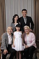 three generation family smiling together - Alex Mares-Manton