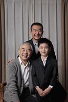Three generation portrait of grandfather, father and son - Alex Mares-Manton