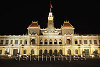 Ho Chi Minh City Hall at night, Vietnam - Alex Mares-Manton