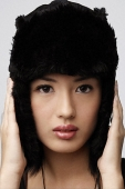 Young woman with winter hat - Asia Images Group