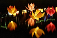Lotus-shaped lanterns for mid-autumn festival - Asia Images Group
