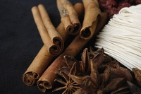 Cinnamon sticks, star anise and noodles - Asia Images Group