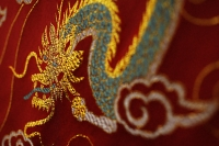 Close up of Chinese silk - Asia Images Group