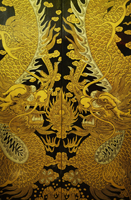 Chinese doors painted with dragon motif - Asia Images Group