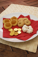 Still life of Chinese new year goodies - Asia Images Group