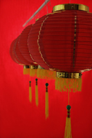 Still life of a row of red lanterns - Asia Images Group