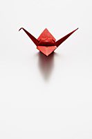 single red paper crane - Asia Images Group