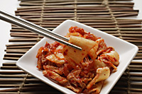 small dish of korean kimchi - Asia Images Group