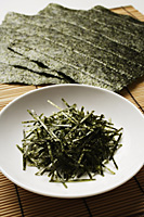 multiple seaweed sheets and shreds - Asia Images Group