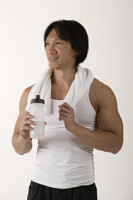 Man after workout - Asia Images Group
