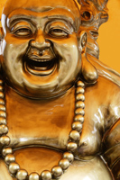 Bronze statue of Happy Buddha - Asia Images Group