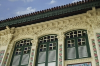 Top view of old Singapore shop house. - Asia Images Group