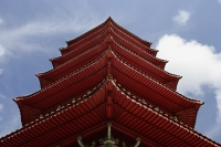 Close up of pagoda roof. - Asia Images Group