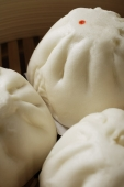 close up of steamed buns, (bao) - Asia Images Group