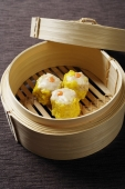bamboo steamer with dimsum - Asia Images Group