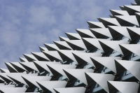 Close up of the Esplanade Theater roof, Singapore. - Asia Images Group