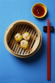 dim sum in bamboo steamer - Asia Images Group