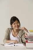 young woman studying - Asia Images Group