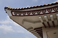 Close up of Chinese Temple roof - Asia Images Group