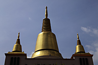 Golden spires of Buddhist Temple - Asia Images Group