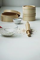 Still life of cooking utensils for Dim Sum - Asia Images Group