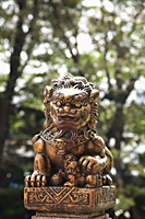 Bronze lion statue - Asia Images Group