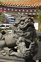 Statue of stone dragon. - Asia Images Group