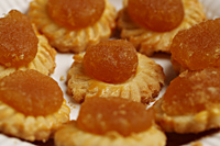 Pineapple tarts on plate. - Asia Images Group