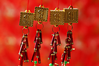 Gold good fortune, dollar sign decorations - Asia Images Group
