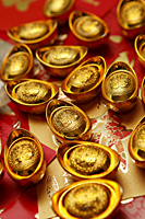 Chinese gold ingots - Asia Images Group