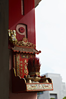 Chinese religious alter with incense - Asia Images Group