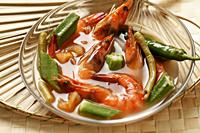 Sinigang Na Hipon. (Prawn soup). Traditional Filipino dish - Asia Images Group