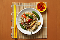 Stir fried vegetables with chillies. Chinese food - Asia Images Group