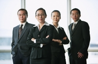 Executives looking at camera, portrait - Asia Images Group