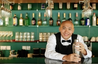 Bartender, portrait - Asia Images Group