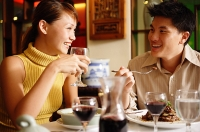 Couple dining in restaurant - Asia Images Group