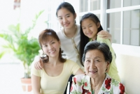 Three generations of females, looking at camera - Asia Images Group