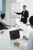 Businessman giving presentation - Asia Images Group