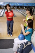 Women in bowling alley - Asia Images Group