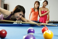 Women playing snooker - Asia Images Group