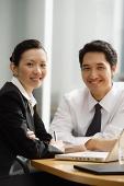 Executives smiling at camera - Asia Images Group