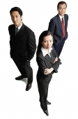 Business people standing, looking at camera - Asia Images Group