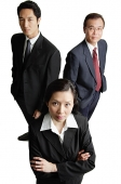 Three business people looking at camera - Asia Images Group