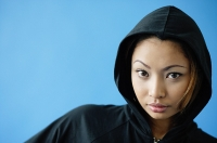 Woman wearing hooded shirt - Asia Images Group