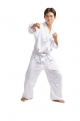 Young man practicing martial arts - Asia Images Group