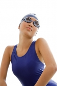Young woman in swimming cap and goggles - Asia Images Group
