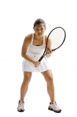 Young woman playing tennis - Asia Images Group